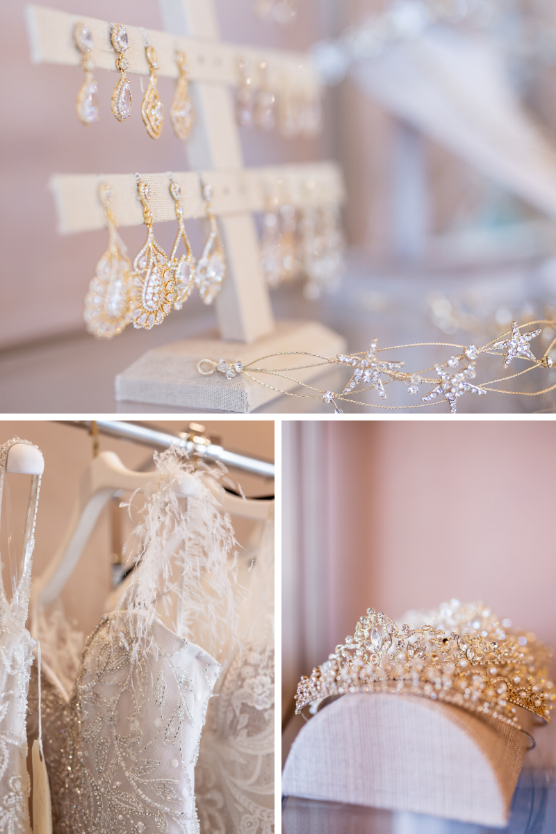 wedding accessories at The Bridal Collection